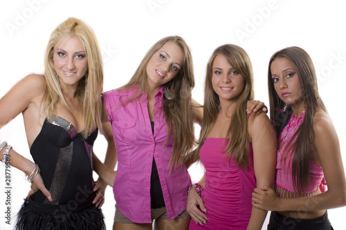 Fotografía  ragazze amiche che danno fiducia