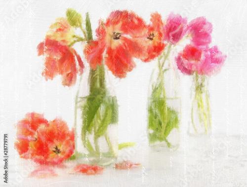 akwarela-z-kolorowymi-tulipanami-w-wazonach