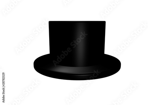 0484382a9 Black top hat isolated on white background - Buy this stock ...