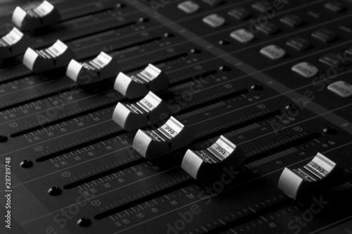 Fotografie, Obraz  Mixing Desk