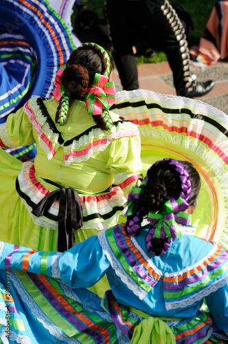Fotografie, Obraz  Mexican dancers