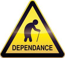 Panneau De Danger Jaune Dépendance (détouré)