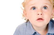 Astonished And Surprised Little Child