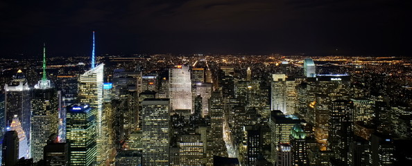 Obraz na SzkleNew York by night from Empire State Building