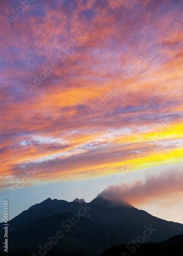 Deurstickers Vulkaan Volcano