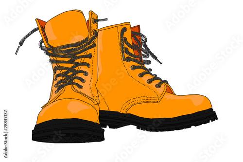 Fotografía  sketchy illustration of boots