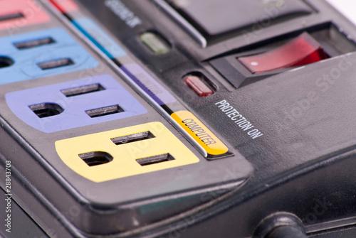 Foto  Designated Computer Input Plug on Surge Protector
