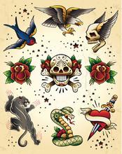 Tattoo Flash Vector Elements