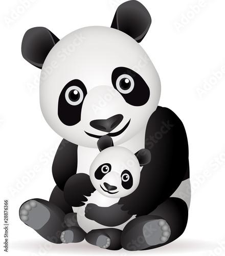 Foto-Stoff - Panda family (von matamu)