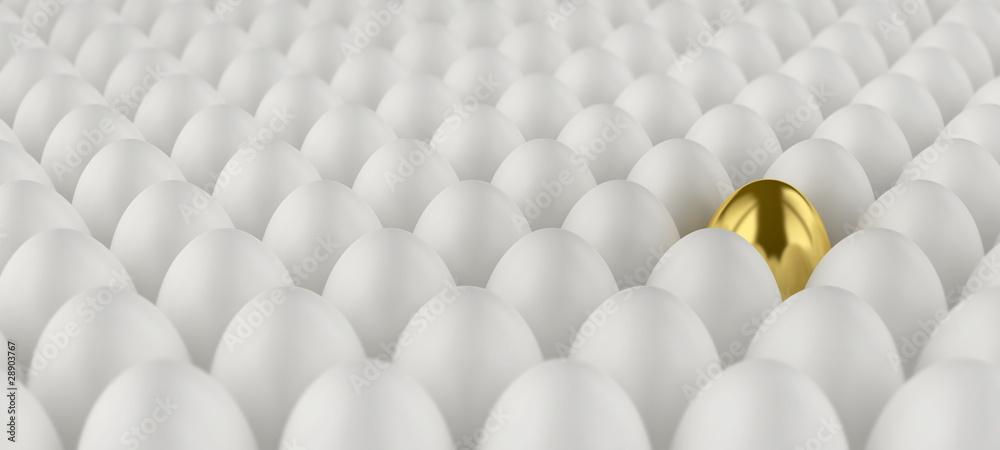 Fototapety, obrazy: Eier, symbolisch, Tiefenschärfe