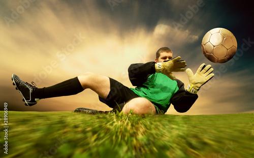 Obrazy sport  bramkarz-w-akcji