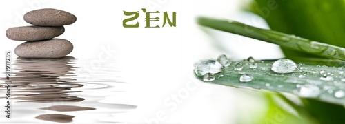 Foto op Canvas Zen bannière zen