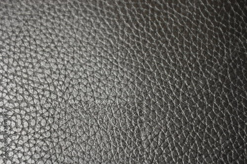 Texture of leather in black