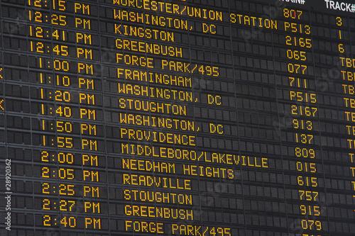 Departure Display at Boston Main Station Wallpaper Mural