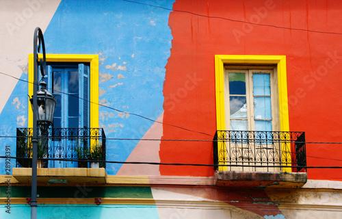 Spoed Foto op Canvas Buenos Aires Hausfassade, La Boca, Buenos Aires