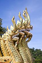 King Of Naga Thai Temple,Chiang Mai Thailand