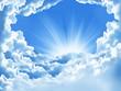 Leinwandbild Motiv beautiful clouds