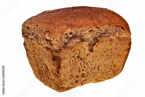Fotografie, Obraz  Fresh, tasty graham bread isolated over white background.
