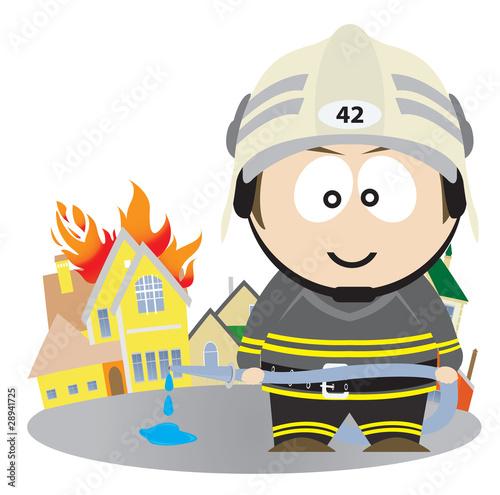 Poster Superheroes Firefighter