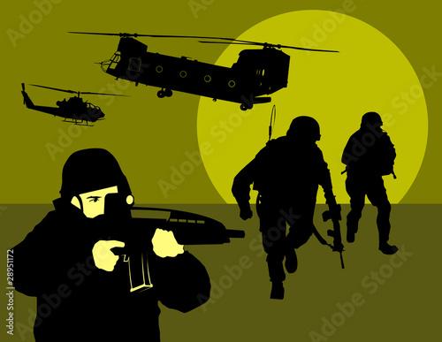 Poster Militaire reconnaissance