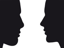 Silhouette Of Man And Woman | ...