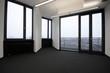 leeres Büro ohne Möbel mit Ausblick