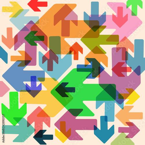 Foto op Plexiglas Geometrische dieren An Abstract Background with Arrows