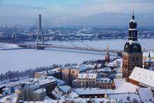 Riga Winter Cityscape 4