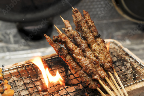 Staande foto Steakhouse Lamb skewers