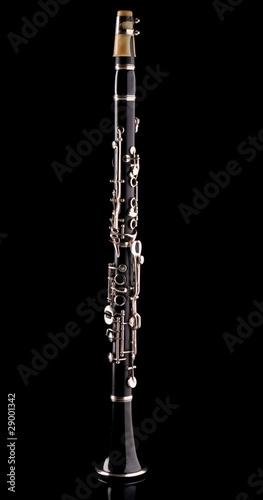 Photo Clarinet isolated on black