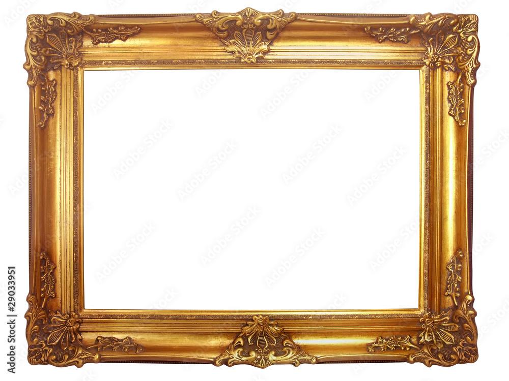Fototapeta cadre en bois doré ancien