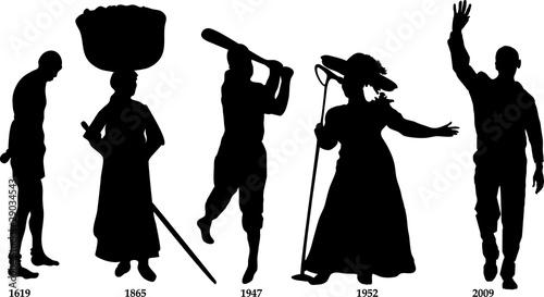 Obraz Black History Timeline - fototapety do salonu