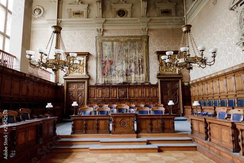 Fototapeta Première cour d'Appel du Palais de Justice de Paris obraz