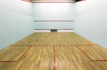Squash Court Wall And Serve Bo...