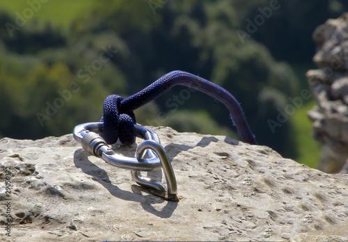 Poster de jardin Alpinisme Kletterhaken