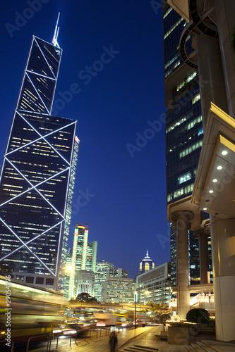 Hong Kong bei Nacht Poster