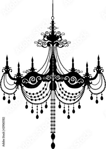 Black chandelier buy this stock vector and explore similar vectors black chandelier aloadofball Image collections