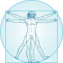 The Vitruvian Man (Aqua-Air Version)