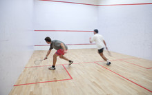 Squash Players In Action On A ...