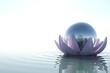 Zen flower with sphere
