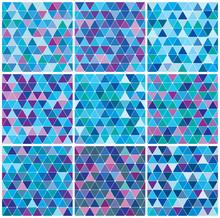 Bright Blue Winter Triangle Pa...
