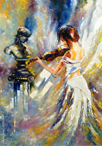 The girl playing a violin - 29133949
