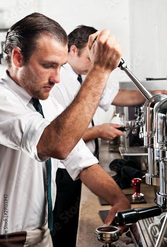Fotografie, Obraz  Coffee barista at work