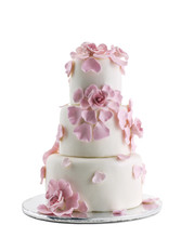 Wedding Cake Isolated On White...