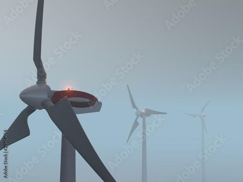 Fotografie, Obraz  centrale éolienne