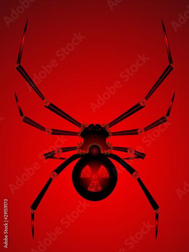 Photo  Black widow bot