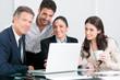 Business team satisfaction