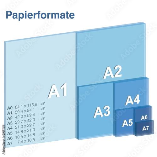 Cuadros en Lienzo DIN A Papierformate (3D)