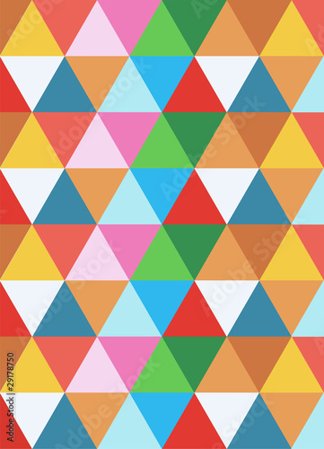 Poster ZigZag geometric colorful background