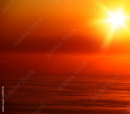 Tuinposter Baksteen Seascape sunset